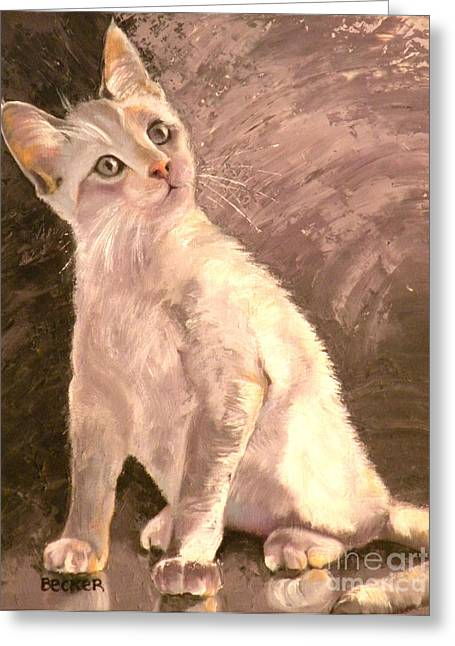 Kitten Prints Greeting Cards - Whole Lotta Lovin Greeting Card by Susan A Becker