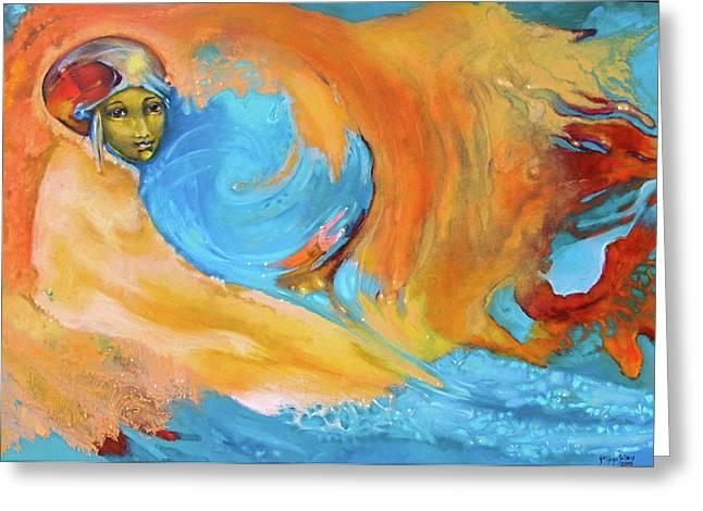 Cosmic Paintings Greeting Cards - Wholesness Navigator Greeting Card by Sue  Hoya Sellars