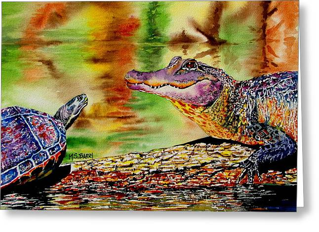 Who's for Lunch Greeting Card by Maria Barry