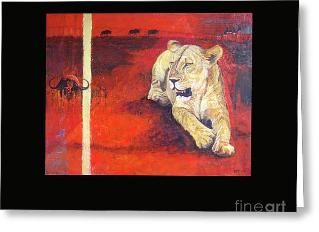 Preditor Greeting Cards - Whos land is it really Greeting Card by Boyd Art