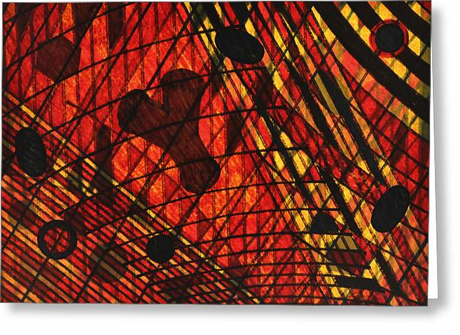 Tb Schenck Tapestries - Textiles Greeting Cards - Why Knot Greeting Card by TB Schenck