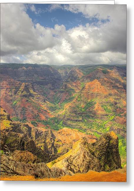 Wiamea Canyon Portrait Greeting Card by John  Greaves