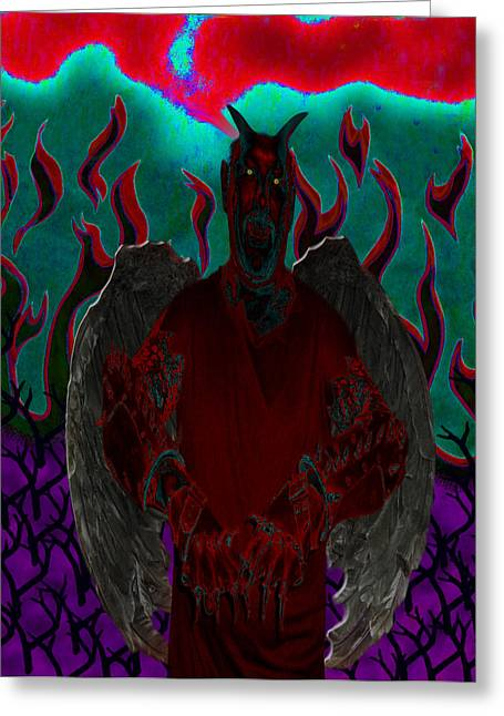 Wings Greeting Cards - Wicked Greeting Card by Tisha McGee