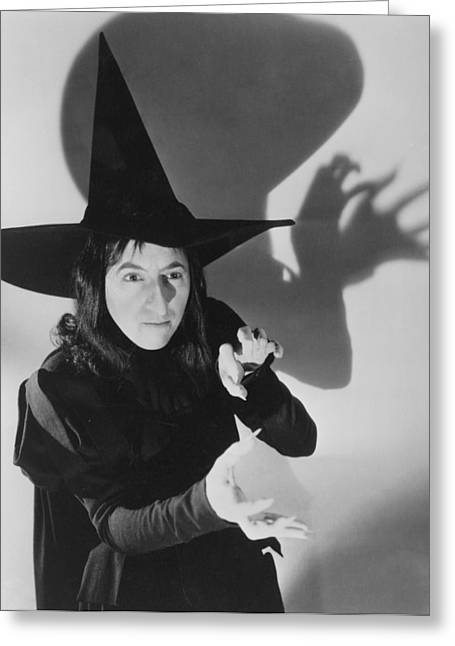 Portrait Of Woman Greeting Cards - Wicked Witch Of The West Greeting Card by Granger