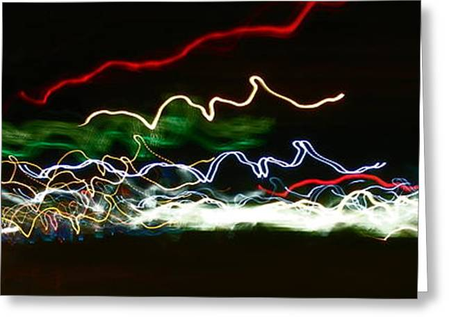 Iphonesia Greeting Cards - Wide Angle Blur Greeting Card by Mickey Hatt