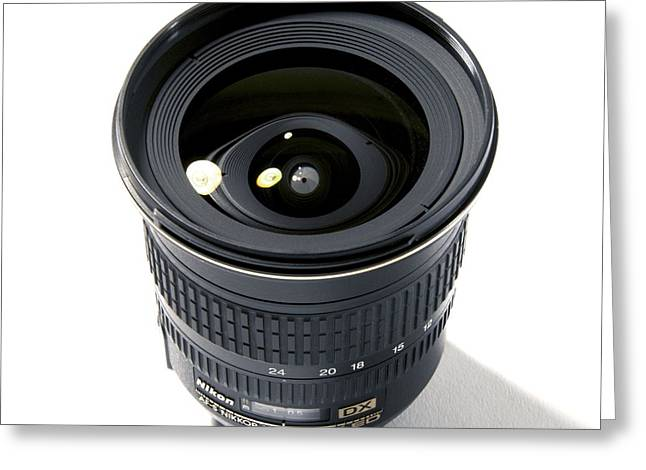 Nikkor Greeting Cards - Wide-angle Zoom Camera Lens Greeting Card by Johnny Greig