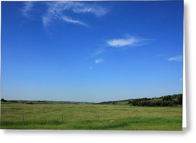 Alberta Greeting Cards - Wide open Alberta prairies Greeting Card by Jim Sauchyn