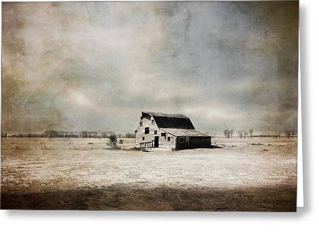 Barn Digital Greeting Cards - Wide Open Spaces Greeting Card by Julie Hamilton
