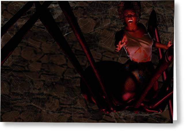 Black Widow Greeting Cards - Widow Greeting Card by Dan Redding