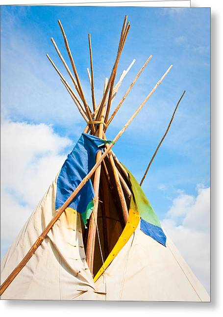 Abode Greeting Cards - Wigwam Greeting Card by Tom Gowanlock