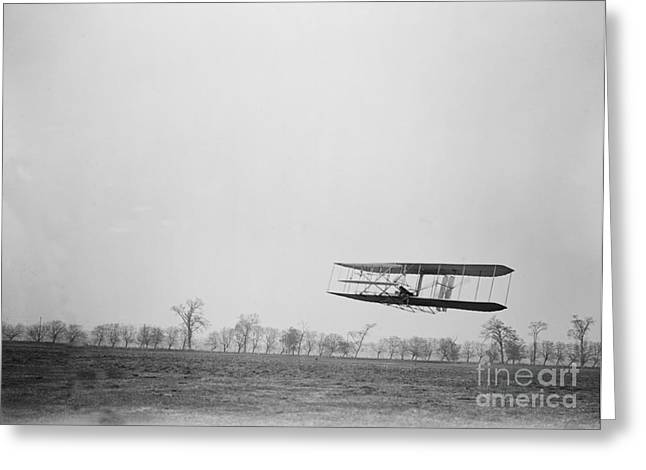 Famous Aviators Greeting Cards - Wilbur Wright Piloting Wright Flyer Ii Greeting Card by Science Source