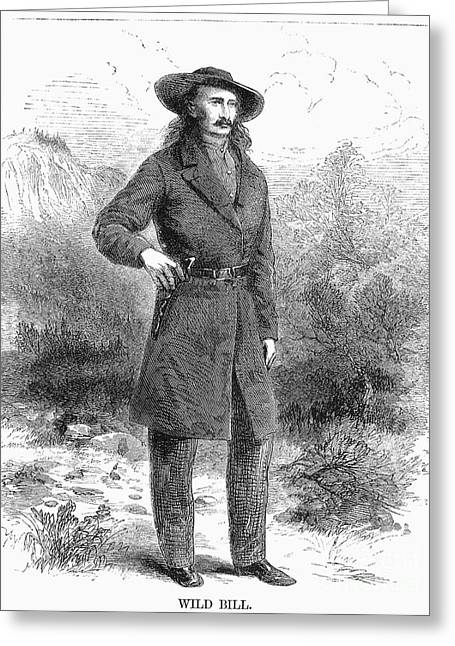 Hickok Greeting Cards - Wild Bill Hickok (1837-1876) Greeting Card by Granger