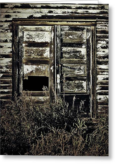 Old Barn Drawing Greeting Cards - Wild Doors Greeting Card by Jerry Cordeiro