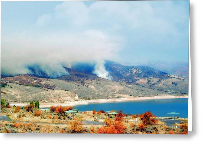 Susan Leggett Greeting Cards - Wild Fires in Utah Greeting Card by Susan Leggett