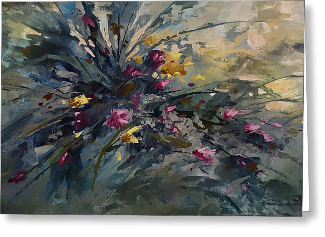 Pallet Knife Greeting Cards - Wild Flowers Greeting Card by Michael Lang