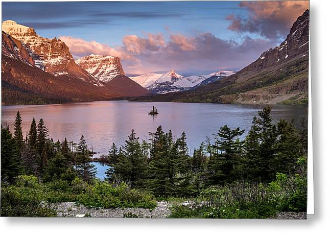 Wild Geese Greeting Cards - Wild Goose Island Morning 1 Greeting Card by Greg Nyquist