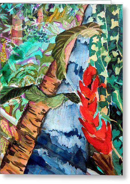 Brook Drawings Greeting Cards - Wild Jungle Greeting Card by Mindy Newman