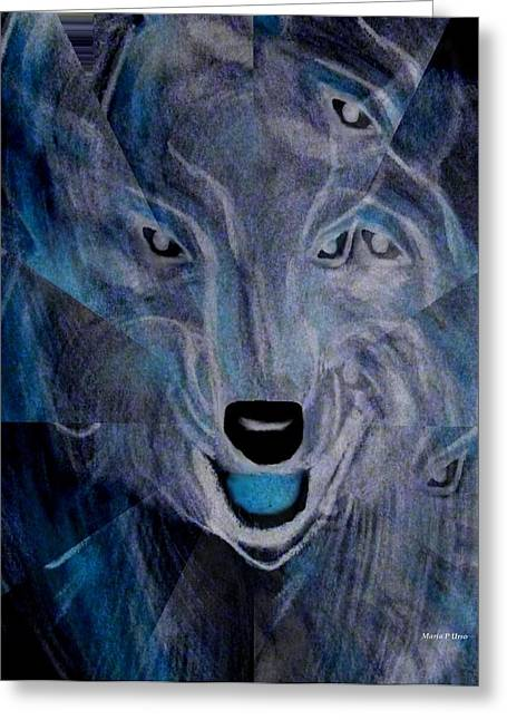 Maria Urso Digital Art Greeting Cards - Wild Greeting Card by Maria Urso