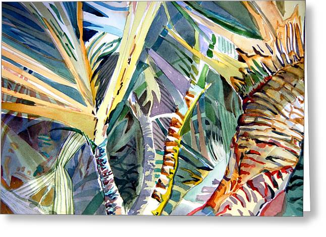 Bible Mixed Media Greeting Cards - Wild Palm Greeting Card by Mindy Newman