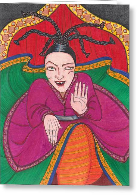 Wild Persian Dancer Greeting Card by Catherine Carr