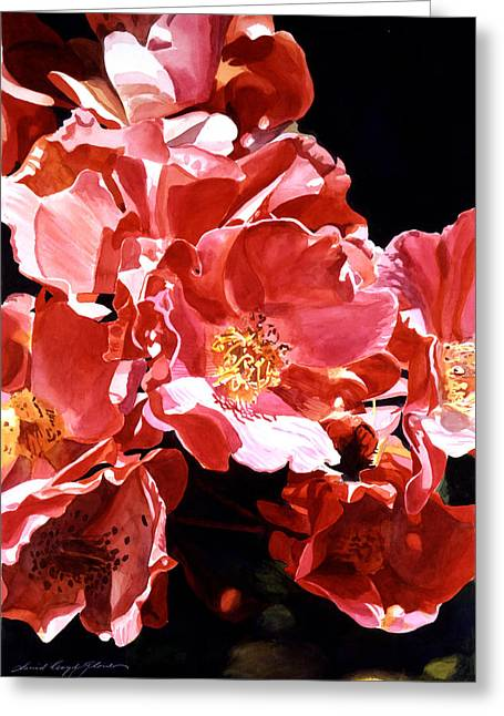 Most Viewed Greeting Cards - Wild Roses Greeting Card by David Lloyd Glover