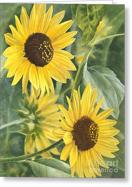 Best Sellers -  - Yellow Sunflower Greeting Cards - Wild Sunflowers Greeting Card by Sharon Freeman