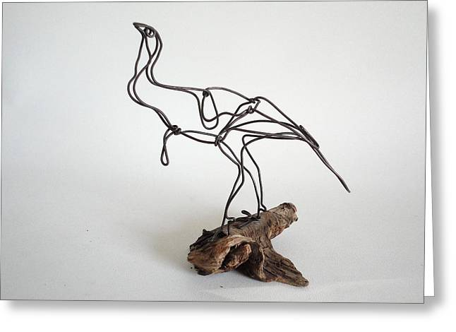 Hunting Sculptures Greeting Cards - Wild Turkey Greeting Card by Bud Bullivant