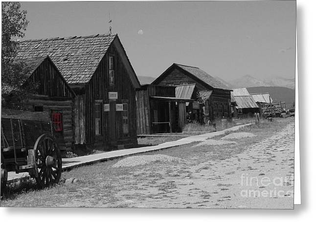 Old Western Photos Greeting Cards - Wild Wild West Greeting Card by Deniece Platt