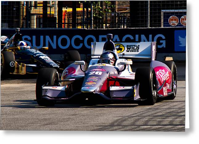 Indy Car Greeting Cards - Wild Wings Greeting Card by Glenn Thompson