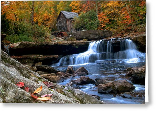 Grist Mill Greeting Cards - wild wonderful WV Glade Creek Greeting Card by Randall Branham