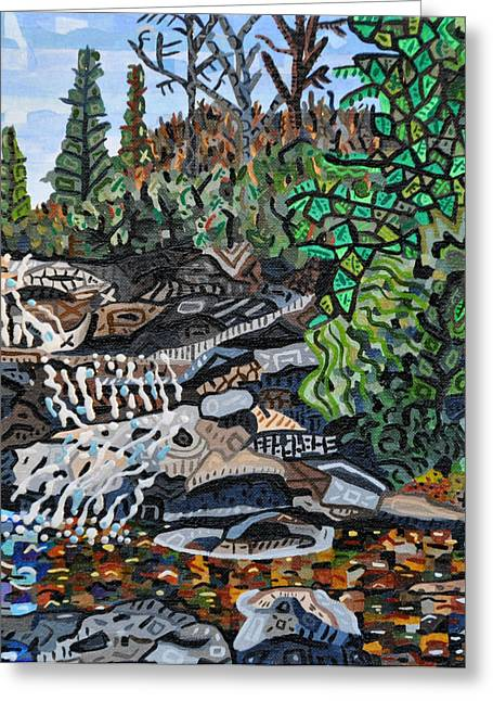 Wildcats Paintings Greeting Cards - Wildcat Falls Greeting Card by Micah Mullen