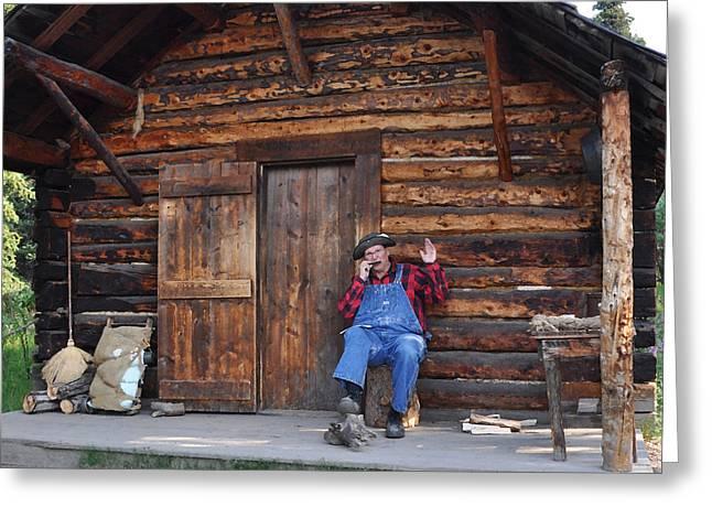 Log Cabins Greeting Cards - Wilderness Cabin Alaska Greeting Card by Jennifer Crites