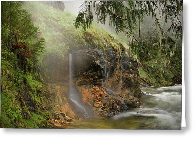 Pouring Greeting Cards - Wilderness Hot Springs Greeting Card by Leland D Howard
