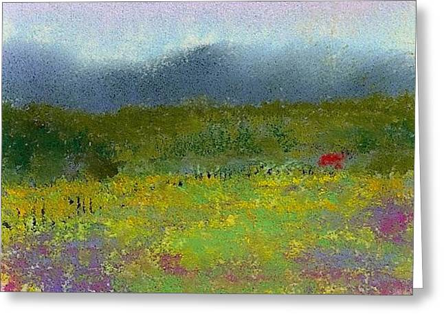 David Pastels Greeting Cards - Wildflowers Greeting Card by David Patterson