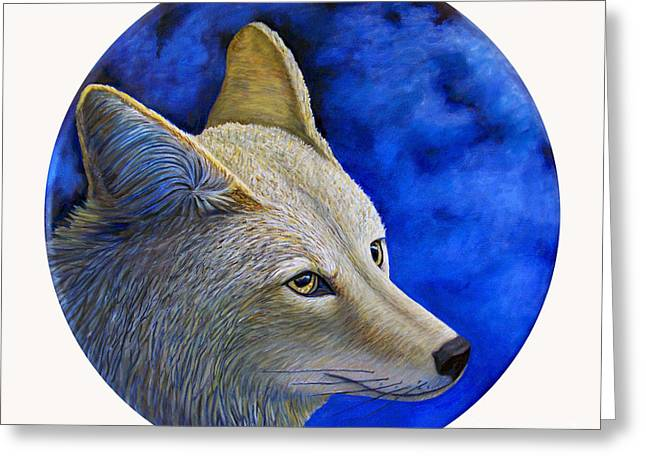 Wiley Coyote Greeting Card by Brian  Commerford