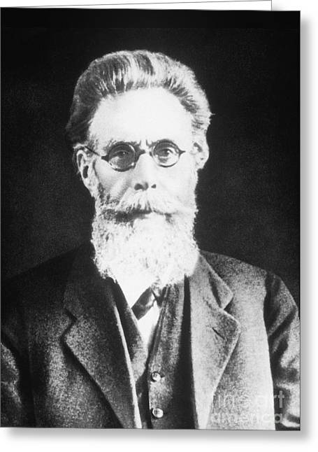 Nobel Recipient Greeting Cards - Wilhelm Roentgen, German Physicist Greeting Card by Science Source