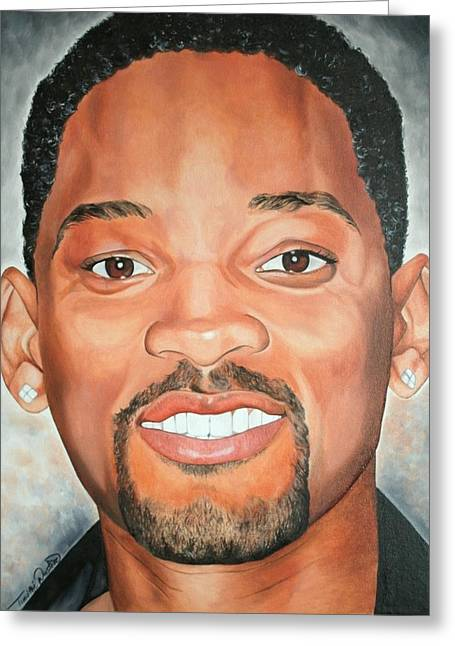 Portraits By Timothe Greeting Cards - Will Smith Greeting Card by Timothe Winstead