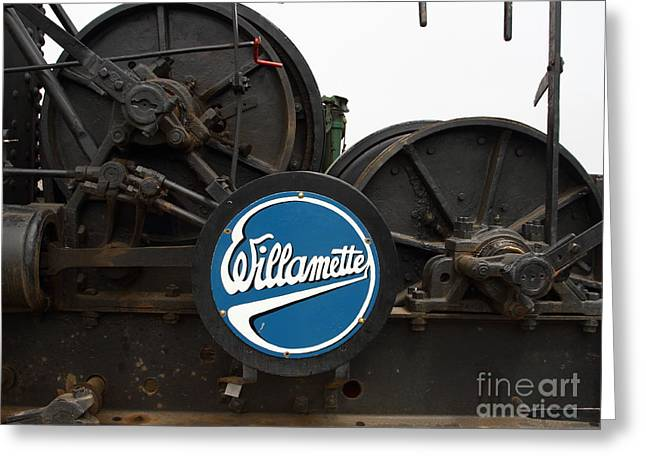 Willamette Steam Engine 7d15104 Greeting Card by Wingsdomain Art and Photography