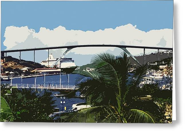 Boat Cruise Greeting Cards - Willemstad - Curacao Greeting Card by Juergen Weiss