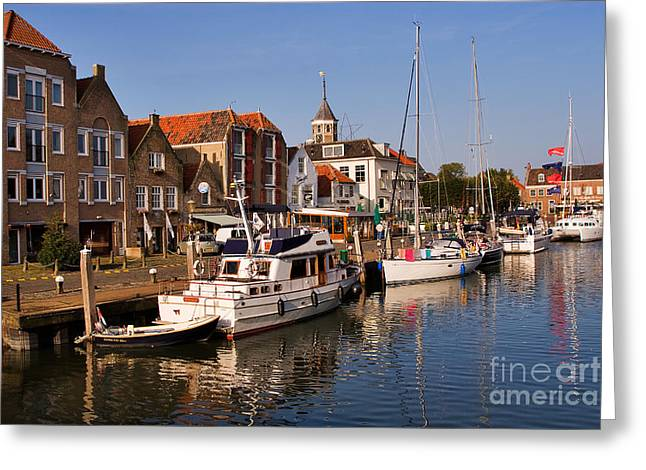 Port Town Greeting Cards - Willemstad Greeting Card by Louise Heusinkveld