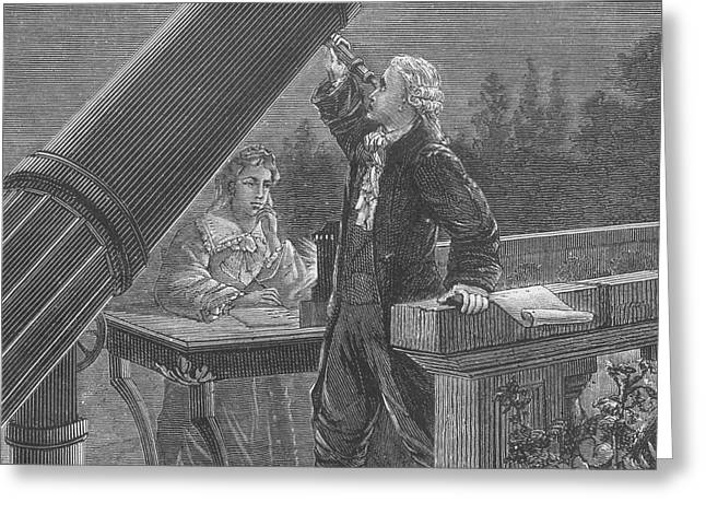 Expert Greeting Cards - William And Caroline Herschel, German Greeting Card by Science Source