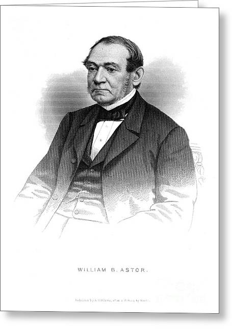 Sideburns Photographs Greeting Cards - William Backhouse Astor Greeting Card by Granger
