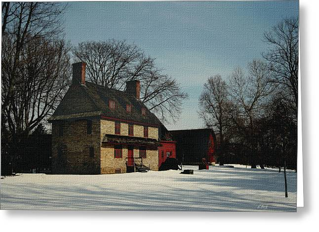 1704 Greeting Cards - William Brinton House 1704 Greeting Card by Gordon Beck