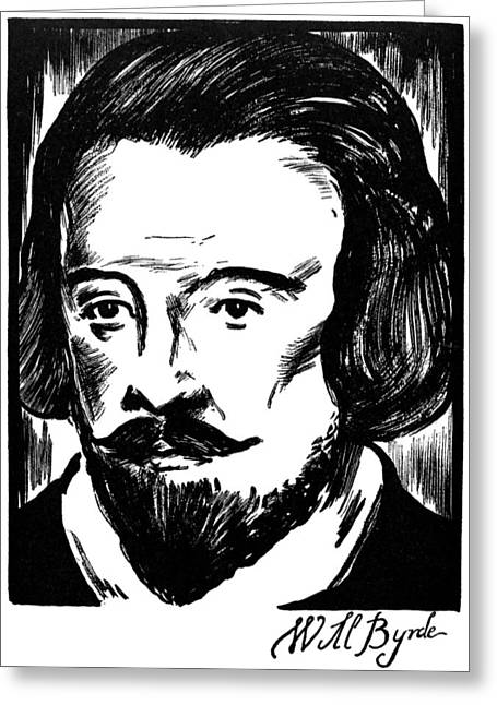 Autograph Greeting Cards - WILLIAM BYRD (c1540-1623) Greeting Card by Granger