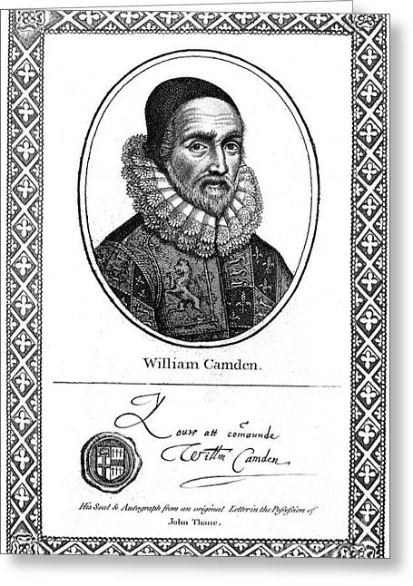 Antiquarian Greeting Cards - William Camden (1551-1623) Greeting Card by Granger