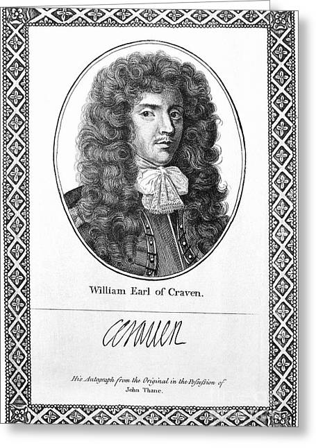 Autograph Greeting Cards - William Craven (1608-1697) Greeting Card by Granger