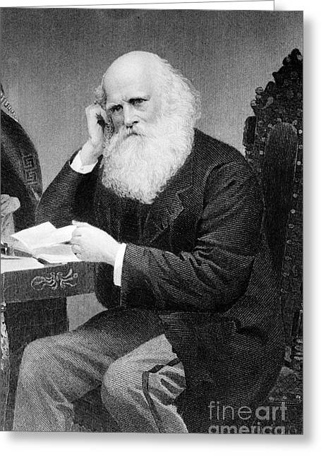 New York Evening Post Greeting Cards - William Cullen Bryant, American Poet Greeting Card by Photo Researchers