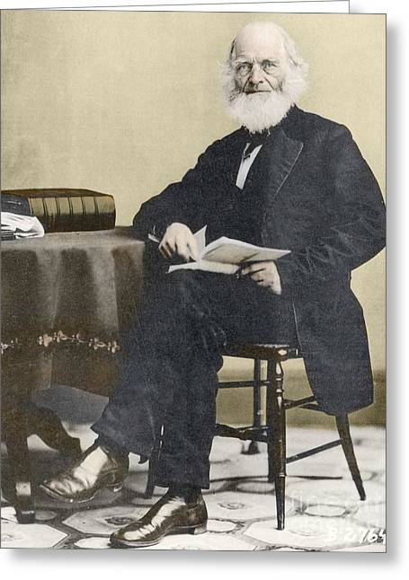 New York Evening Post Greeting Cards - William Cullen Bryant, American Poet Greeting Card by Science Source