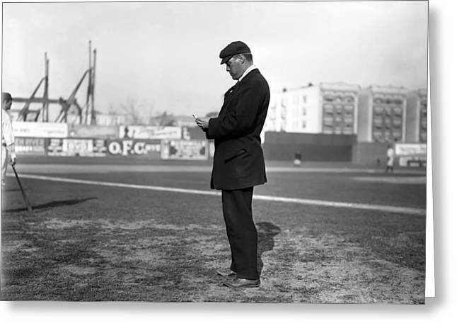 Boston Red Sox Greeting Cards - William Dinneen 1910 Greeting Card by Stefan Kuhn
