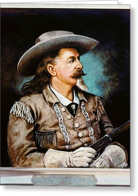 Buffalo Bill Cody Greeting Cards - William F. Cody Greeting Card by Granger